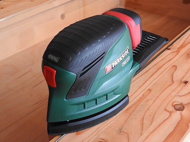 how to sand wood with electric sander