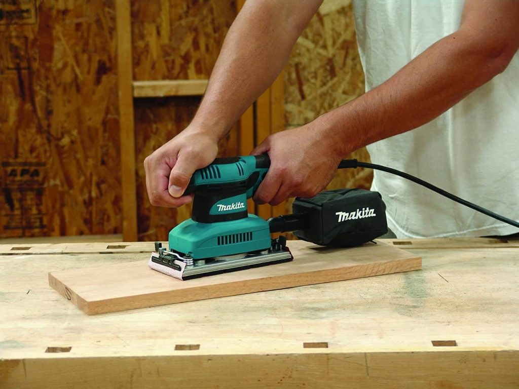 how to sand wood with a palm sander
