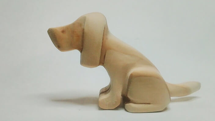 how to carve dog using power tools