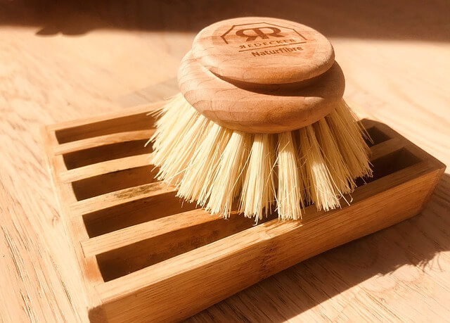 use a brush for removing sawdust