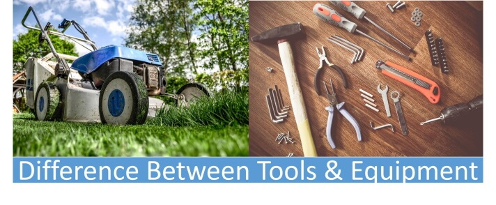 difference between tools and equipment
