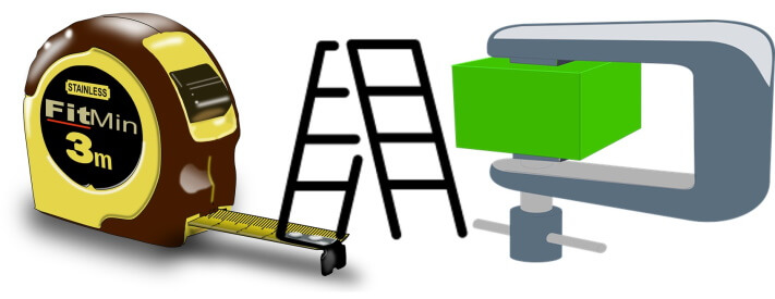Measuring tools, Clamps, Ladders