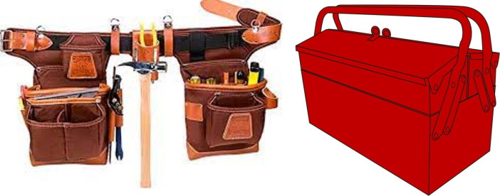 Tool Belts, Boxes