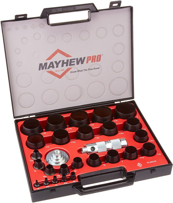 Mayhew Pro 66002 Imperial SAE Hollow Punch Set