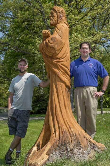 Spiritual Concept chainsaw carving