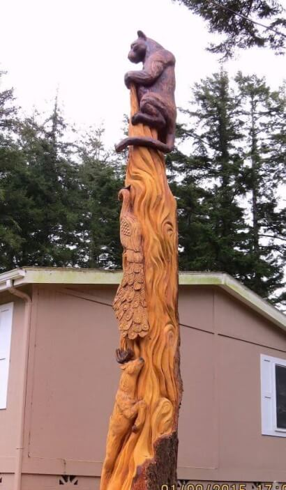 Wildlife Motif chainsaw carving