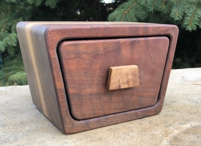 how to make a bandsaw box with hidden drawer