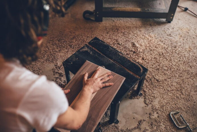 how to clean sawdust out of garage