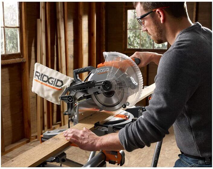 how to square a ridgid miter saw